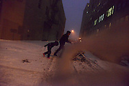 New York. Brooklyn,  Dumbo area  at night