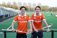 BLOEMENDAAL - Wouter Jolie (l) en Eby Kessing. Kessing stopt met tophockey. FOTO KOEN SUYK