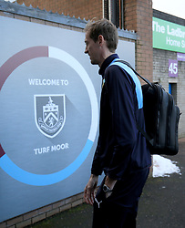 Burnley's new signing Peter Crouch makes his way into the ground before the Premier League game between Burnley and Southampton.