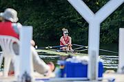 Henley-on-Thames. United Kingdom.  <br /> Princess Royal Challenge Cup.Hollandia Roeiclub, Netherlands.  NED W1X. Inge JANSSEN. 2017 Henley Royal Regatta, Henley Reach, River Thames. <br /> <br /> 17:42:31  Saturday  01/07/2017   <br /> <br /> [Mandatory Credit. Peter SPURRIER/Intersport Images.