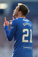 GOAL Brandon Barker (Rangers) celebrates his goal during the Scottish Premiership match between Rangers and Ross County at Ibrox, Glasgow, Scotland on 4 October 2020.