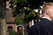 Nederland, Driel, 27-9-2006..Beveiligingsmedewerker met oortelefoon tijdens de herdenking van de slag om Arnhem...Foto: Flip Franssen/Hollandse Hoogte