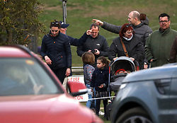 EXCLUSIVE ***NO CREDIT*** The Duke of Cambridge, Duchess of Cambridge, Prince George, Princess Charlotte, Mike Tindall and Mia Tindall are all seen enjoying a day out at the Burnham Horse Trials in Norfolk.<br /><br />14 April 2019.<br /><br />Please byline: ***NO CREDIT***<br /><br />UK clients should be aware children's faces may need pixelating.