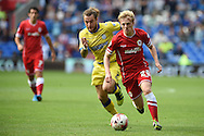 Mats Daehli of Cardiff city in action.Skybet football league championship match, Cardiff city v Sheffield Wed at the Cardiff city stadium in Cardiff, South Wales on Saturday 27th Sept 2014<br /> pic by Andrew Orchard, Andrew Orchard sports photography.