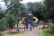 Israel, Carmel Mountain, the Nesher Park. children's playground