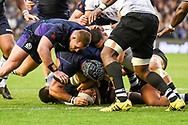 Scotland's pack was able to match the mighty Fijians during the 2018 Autumn Test match between Scotland and Fiji at Murrayfield, Edinburgh, Scotland on 10 November 2018.