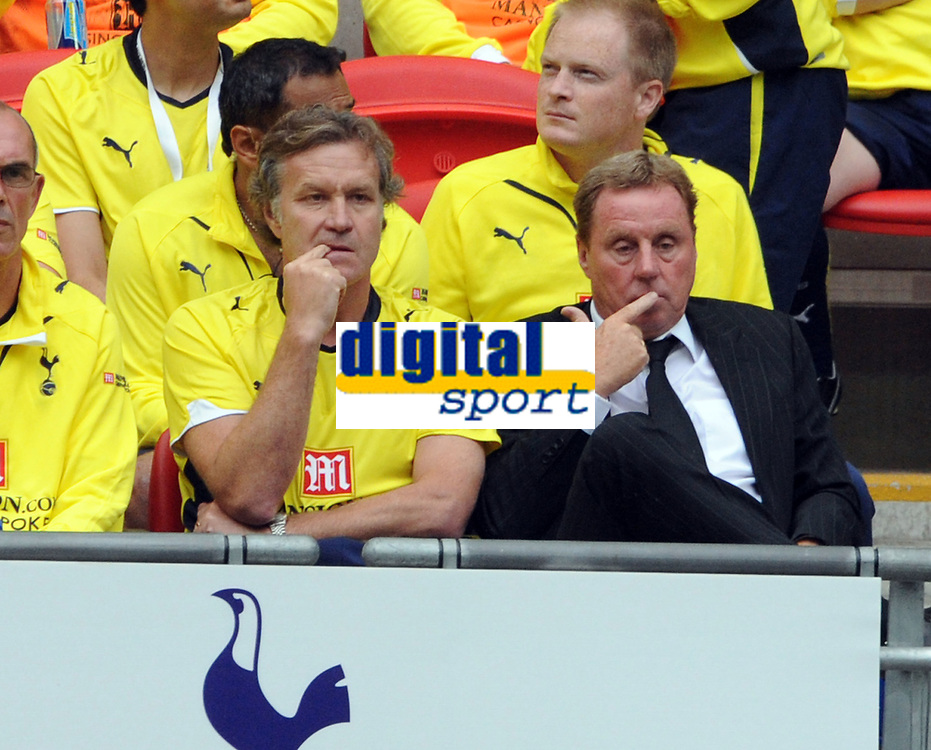 The Wembley Cup at Wembley Stadium Tottenham Hotspur v Celtic 26/07/09<br /> Plenty for Tottenham Manager Harry Redknapp and assitant Kevin Bond to think about<br /> Photo Roger Parker Fotosports International
