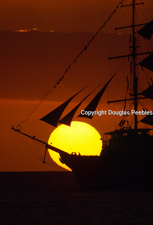 Sailboat in sunset<br />