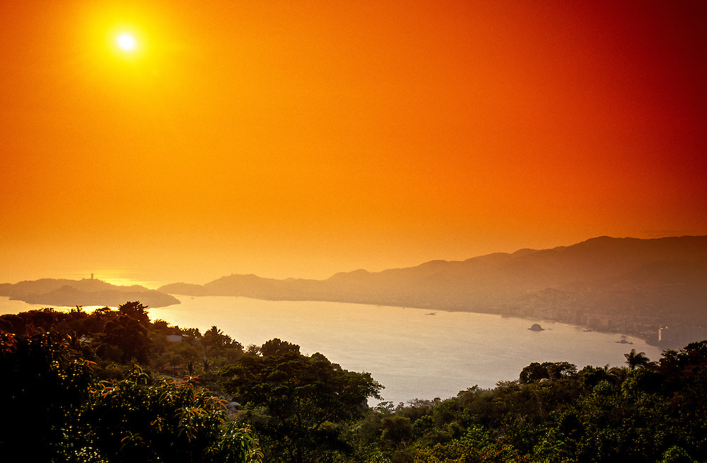 Acapulco Bay at sunset, Acapulco, Mexico