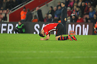 Football - 2018 / 2019 Premier League - Southampton vs. Everton<br /> <br /> Southampton's Shane Long stays down after a clash of heads at St Mary's Stadium Southampton<br /> <br /> COLORSPORT/SHAUN BOGGUST
