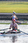Henley-On-Thames, Berkshire, UK., Saturday,  08/08/2020,  GBR W1X., Vicky THORNLEY, Training   River Thames, Thames Valley, [ Mandatory Credit © Peter Spurrier/Intersport Images], Leander Club , , Training during, the  coronavirus (COVID-19), pandemic,