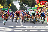 Arrival sprint, Dylan Groenewegen (NED - Team LottoNL - Jumbo), Andre Greipel (GER - Lotto Soudal), Peter Sagan (SVK - Bora - Hansgrohe), Fernando Gaviria (COL - QuickStep - Floors), during the 105th Tour de France 2018, Stage 8, Dreux - Amiens Metropole (181km) on July 14th, 2018 - Photo Luca Bettini / BettiniPhoto / ProSportsImages / DPPI