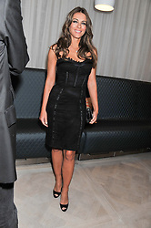 ELIZABETH HURLEY at a party to celebrate the publication of Fame Game by Louise Fennell held at Grace, West Halkin Street, London on 12th March 2013.