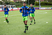 Forest Green Rovers Omar Bugiel(11) warming up during the Pre-Season Friendly match between Worthing FC and Forest Green Rovers at Woodside Road, Worthing, Uni on 1 August 2017. Photo by Shane Healey.