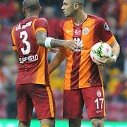 Galatasaray's Burak Yilmaz (R) during their Turkish Super League soccer match Galatasaray between Sivasspor at the TT Arena at Seyrantepe in Istanbul Turkey on Friday, 26 September 2014. Photo by Kurtulus YILMAZ/TURKPIX