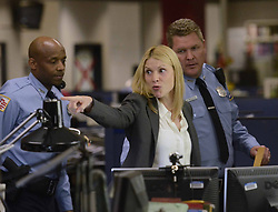 """Claire Danes acts in a scene as Showtime brings the production of """"Homeland"""" to the newsroom floor of the Charlotte Observer in Charlotte, NC, USA May 28, 2013. Photo by T. Ortega Gaines/Charlotte Observer/MCT/ABACAPRESS.COM  