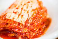 Kimchi, served as a side dish to bibimbap. Seoul, South Korea