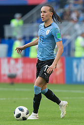 June 25, 2018 - Samara, Russia - Diego Laxalt of Uruguay in action during the 2018 FIFA World Cup Russia group A match between Uruguay and Russia at Samara Arena on June 25, 2018 in Samara, Russia. (Credit Image: © Foto Olimpik/NurPhoto via ZUMA Press)