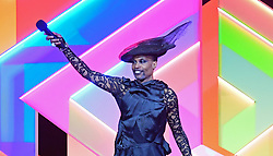 Billy Porter presents the award for International Group during the Brit Awards 2021 at the O2 Arena, London. Picture date: Tuesday May 11, 2021.