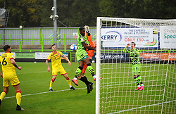 Jamille Matt of Forest Green Rovers collides with Liam Roberts of Walsall- Mandatory by-line: Nizaam Jones/JMP - 03/10/2020 - FOOTBALL - the innocent [insert name here] stadium - Nailsworth, England - Forest Green Rovers v Walsall - Sky Bet League Two