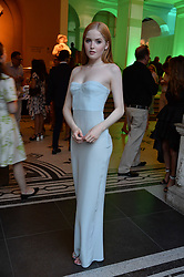 Ellie Bamber at the V&A Summer Party 2017 held at the Victoria & Albert Museum, London England. 21 June 2017.<br /> Photo by Dominic O'Neill/SilverHub 0203 174 1069 sales@silverhubmedia.com