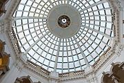 Architectural interior of Tate Britain art gallery in London, United Kingdom.