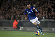 Cenk Tosun of Everton runs with the ball . <br /> Premier league match, Tottenham Hotspur v Everton at Wembley Stadium in London on Saturday 13th January 2018.<br /> pic by Kieran Clarke, Andrew Orchard sports photography.