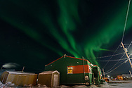 A very bright northern light that we can see from town