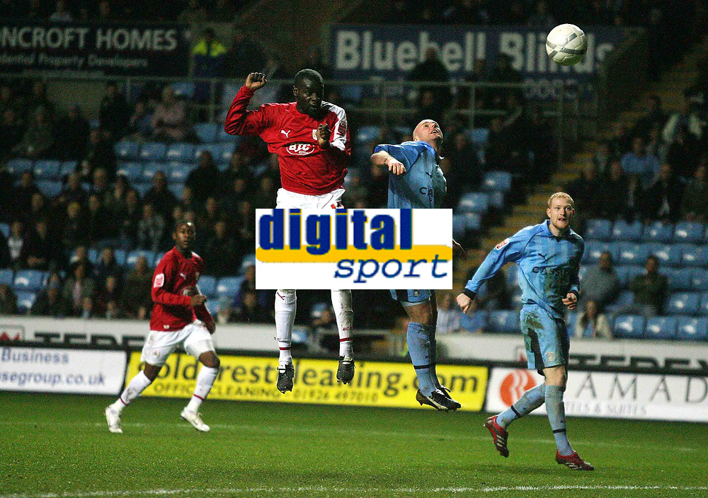 Photo: Rich Eaton.<br /> <br /> Coventry City v Bristol City. The FA Cup. 16/01/2007. Enoch Showunmi of Bristol scores the second goal of the game to put Bristol 2-0 up in the second half