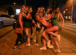 © Licensed to London News Pictures. 19/09/2021. Nottingham, UK. Students make the most of Freshers Week in Nottingham city centre. Photo credit: Ioannis Alexopoulos/LNP