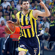 Fenerbahce's Omer ONAN during their Turkish Basketball Legague Play-Off final fifth match Fenerbahce between Galatasaray at the Sinan Erdem Arena in Istanbul Turkey on Tuesday 14 June 2011. Photo by TURKPIX