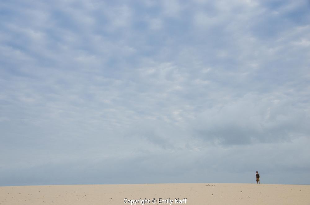 Watching sunrise from the dunes at Jericoacoara, Brazil.
