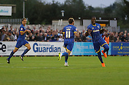 AFC Wimbledon Celebrate during the Sky Bet League 2 match between AFC Wimbledon and Cambridge United at the Cherry Red Records Stadium, Kingston, England on 18 August 2015. Photo by Stuart Butcher.
