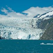 North America, United States, US, Northwest, Pacific Northwest, West, Alaska, Kenai, Kenai Fjords, Kenai Fjords National Park, Kenai Fjords NP. Dramatic Holgate Glacier in Kenai Fjords National Park, Alaska.