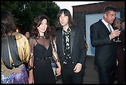 BOBBY GILLESPIE, 2014 Serpentine's summer party sponsored by Brioni.with a pavilion designed this year by Chilean architect Smiljan Radic  Kensington Gdns. London. 1July 2014