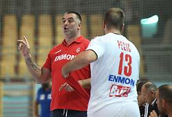 Nenad Perunicic of Serbia during friendly handball match between Slovenia and Srbija, on October 27th, 2019 in Športna dvorana Lukna, Maribor, Slovenia. Photo by Milos Vujinovic / Sportida
