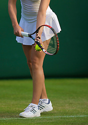LONDON, ENGLAND - Monday, June 23, 2008: Ashley Harkleroad (USA) in action during her first round match on day one of the Wimbledon Lawn Tennis Championships at the All England Lawn Tennis and Croquet Club. (Photo by David Rawcliffe/Propaganda)