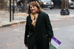 London, UK. 16 November, 2019. Valerie Vaz, Shadow Leader of the House of Commons, arrives at Labour's Clause V meeting. The Clause V meeting, chaired by the party leader and attended by members of the National Executive Committee (NEC), relevant Shadow Cabinet members and members of the National Policy Forum, will finalise the party's general election manifesto. The meeting is named after Clause V of the Labour Party rulebook. Credit: Mark Kerrison/Alamy Live News