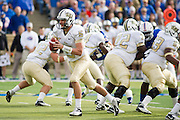 Dec 1, 2012; Tulsa, Ok, USA; University of Central Florida Knights quarterback Blake Bortles (5) looks to hand off the ball during a game against the Tulsa Hurricanes at Skelly Field at H.A. Chapman Stadium. Tulsa defeated UCF 33-27 in overtime to win the CUSA Championship. Mandatory Credit: Beth Hall-USA TODAY Sports
