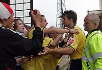 Photo: Paul Thomas.<br /> Barnsley v Southampton. Coca Cola Championship. 19/08/2006.<br /> <br /> Grzegorz Rasiak of Southampton celebrates his goal.