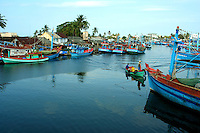 Duong Dong Port in Phu Quoc.  Though mostly a sleepy fishing village devoted to Nuoc Mam or fish sauce, in recent years Duong Dong and Phu Quoc have become popular thanks to the islands excellent white sand beaches.