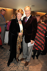 NICHOLAS & ANNIE PARSONS at a tribute lunch in honour of Michael Aspel hosted by The Lady Taverners at The Dorchester, Park Lane, London on 14th November 2008.