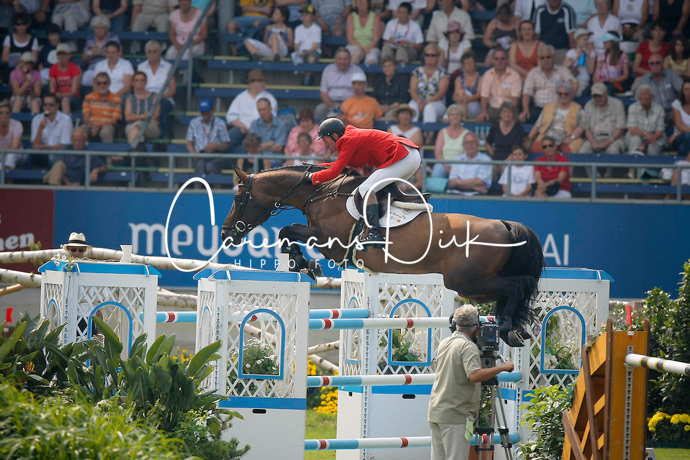 """Lansink Jos (BEL) - Spender S<br /> 3th of the """"Warsteiner Preis von Europa""""<br /> CHIO Aachen 2009<br /> Photo © Dirk Caremans"""