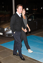 The Prime Minister David Cameron and his Wife Samantha arrive for The Conservative Party Conference at ICC, Birmingham, on the eve of the Party Conference, Saturday October 6, 2012. Photograph by Elliott Franks / i-Images