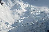 Upper reaches of the Berg Glacier, Mount Robson Provincial Park British Columbia Canada