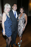 l to r: Katrina Peeples, R. Donahue Peeples and Vivica A. Fox at The 2009 NV Awards: A Salute to Urban Professionals sponsored by Hennessey held at The New York Stock Exchange on February 27, 2009 in New York City. ....