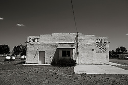 abandoned cafe in New Mexico