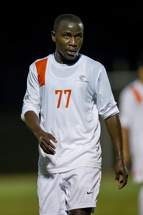 Sep 5, 2013; Morrow, GA, USA; Clayton State men's soccer player Alhagi Toure against Tampa at CSU. CSU won 4-1. Photo by Kevin Liles/kdlphoto.com