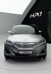 Peugeot HR1 concept Hybrid petrol concept car at the Geneva Motor Show 2011 Switzerland