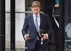 © Licensed to London News Pictures. 26/09/2019. London, UK. Conservative MP Tobias Ellwood walks at Parliament in Westminster . The Supreme Court has ruled that Parliament had been suspended illegally. British Prime Minster Boris Johnson prorogued parliament just weeks before the UK is due to leave the EU on October 31st. Photo credit: Peter Macdiarmid/LNP